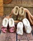 Womens Mossy Oak Fleece Dawgs Clogs Slippers Removable Liner 7-8 9-10 Camo Shoes