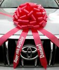 Giant Car Bow with Personalised tails Large Gift Bow  ALL COLOURS