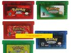 Pokemon Pokémon FireRed Emerald Ruby Saphhire Leaf GBA Nintendo Game Boy Advance