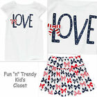 NWT Gymboree FOURTH OF JULY Girls Size 5 Skirt Skort & Tee Shirt Top 2-PC OUTFIT