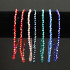 Angle Cut Crystal Beads Stretch Ankle Bracelet image