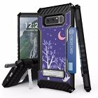 Samsung Galaxy Note 8 Tri Shield Armor Hybrid Hard Case,Kickstand,Card Slot,K307