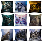 18'' Animal Wolf Pillow Cover Throw Pillow Case Sofa Cushion Cover Home Decor