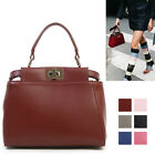 CELEBRITY ST CLASSIC PEECABOO MINI TOTE SHOULDER BAG PURSE REAL COWHIDE LEATHER
