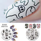 Halloween Born Pretty Nail Art Stamping Plate Pumpkin Skull Witch Celebration