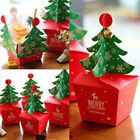5-50 Merry Christmas Tree Bell Party Paper Favour Gift Candy Cupcake Bags Box#W