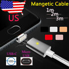 1M/2M/3M High Speed Magnetic Micro USB/USB-C Quick Charger Cable Data Transfer