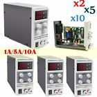 LOT 1A/5A/10A 30V DC Power Supply Adjustable Digital Lab Variable Precision FSAS