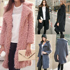 Ladies Winter Warm Faux Fur Long Parka Trench Coat Jacket Casual Velvet Overcoat