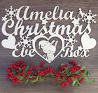 PERSONALISED ANY NAME LOVELY CHRISTMAS EVE TOPPER FOR WOODEN SANTA XMAS BOX