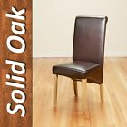 PU Leather Dinning Chairs with Oak Legs High Back,Black/Brown Dining Room Modern for sale  Shipping to South Africa
