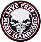 """9.5"""" Skull Hard Core Biker Patch Iron on For Polo T shirt Jacket Clothes Costume"""