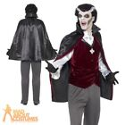 Adult Vampire Costume Halloween Dracula Horror Mens Fancy Dress Outfit New