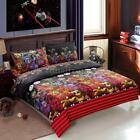 Halloween 4x Bedding Set Duvet Cover Pillowcases Bed Sheet Machine Washable A9Z1