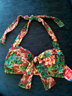 2Chillies St Barts D/DD Bow Front Halter Removable Padding Bikini Top SALE