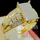 Ladies Baguette Cut Wedding Ring Engagement Womens Diamond Band Yellow Gold Tone