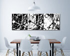 Abstract Black White Graffiti Art Wall CP Print Oil Painting on Canvas Frame 829