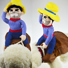 Funny Riding Horse Cowboy Dog Costumes Puppy Halloween Party Costume Clothes US