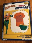 NEW NIB MEN'S GUY'S AQUAMAN UNDEROOS UNDERWEAR BRIEF&T-SHIRT SET DC COMICS