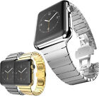 Butterfly Lock Link Bracelet Band For Apple Watch 38/42mm Stainless Steel Strap