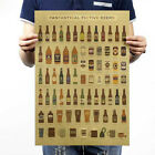 Retro Kraft Paper Poster 9 Different Styles Bar Cafe Room Home Wall Decor