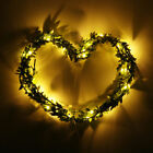 20LED Leaf Garland Battery Operate Copper Fairy String Lights Wedding Party HQ