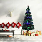 Pre-Lit Artificial Christmas Tree Multicolor LED Holiday Indoor Outdoor 5/6/7 Ft