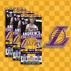 Los Angeles Lakers Ticket Style Sports Party Invites on eBay