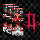 Houston Rockets Ticket Style Sports Party Invites on eBay