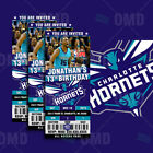 Charlotte Hornets Ticket Style Sports Party Invites on eBay