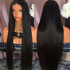 Heat Resistant Synthetic Wig Long Silky Straight Black Synthetic Lace Front Wigs