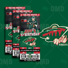 Minnesota Wild Ticket Style Sports Party Invites $35.0 USD on eBay
