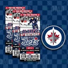 Winnipeg Jets Ticket Style Sports Party Invites $25.0 USD on eBay