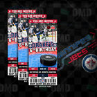 Winnipeg Jets Ticket Style Custom Sports Party Invitations $35.0 USD on eBay