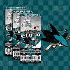 San Jose Sharks Ticket Style Sports Party Invites $25.0 USD on eBay