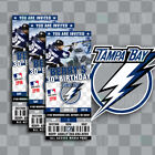 Tampa Bay Lightning Ticket Style Sports Party Invites