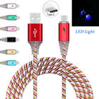 LED Light Type-C USB Data Sync Cable Fast Charging Cord For Samsung Galaxy Note8