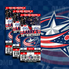 Columbus Blue Jackets Ticket Style Custom Sports Party Invitations $35.0 USD on eBay
