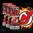 New Jersey Devils Ticket Style Sports Party Invites $35.0 USD on eBay