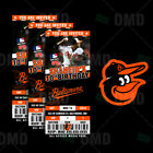 Baltimore Orioles Ticket Style Sports Party Invites on Ebay