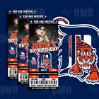 Detroit Tigers Ticket Style Sports Party Invites on Ebay
