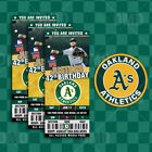 Oakland Athletics Ticket Style Sports Party Invites on Ebay