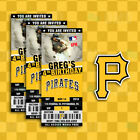 Pittsburgh Pirates Ticket Style Sports Party Invites on Ebay