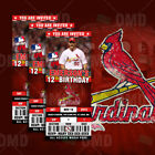 St. Louis Cardinals Ticket Style Sports Party Invites on Ebay