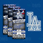 Los Angeles Dodgers Ticket Style Custom Sports Party Invitations on Ebay