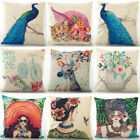 "18""Cute pattern Cotton Linen Pillow Case Sofa Cushion Cover Fashion Home Decor"