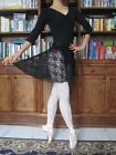 Lady or girl ballet dance black lace wrap short skirt - New in adult Size S
