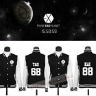 Kpop EXO Chanyeol Varsity Sports Coat Unisex Sweatshit Baseball Uniform Jacket