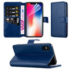 Leather Wallet Book Case Cover Pouch For Apple iPhone 8 8 Plus 7 7 Plus X