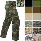 Military Paratrooper Fatigues 8-Pocket Cargo Camo Pants Washed Army Tactical
